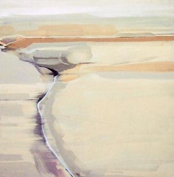 peggy berger • Ottendorf Wüste III • Acryl auf Hartfaser • 60 × 60 cm • 2002